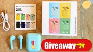 Inpods 12 Vs i12 Twn Airpods Comparison & Giveaway ! #Airpods #Giveaway