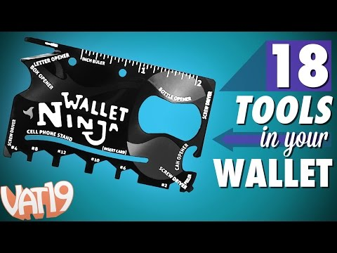 18in1 multitool the size of a credit card!