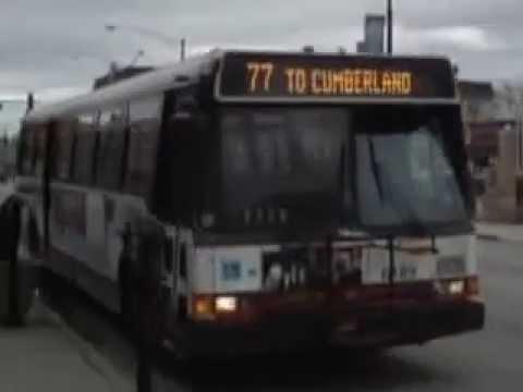 W B Cta Rt 77 Belmont Ave Bus Chicago Il April 2007