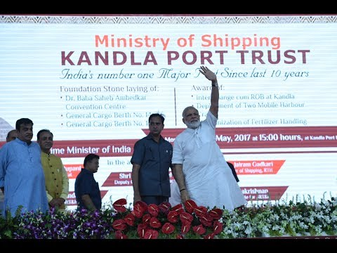 PM Modi Lays Foundation Stone for Various Projects of Kandla Port in Gandhidham, Gujarat