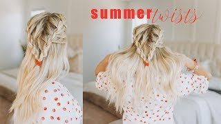 Twisted Hairstyle for Summer   Medium Length Hair