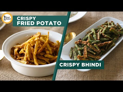 Two Crispy ( Potato ' Bhindi) Recipes by Food Recipes