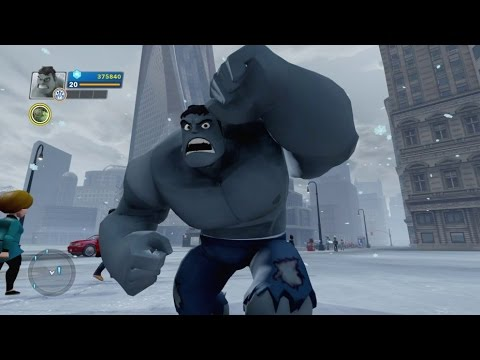 Disney Infinity 2.0 - Grey Hulk Gameplay (Gamma Rays Power Disc)