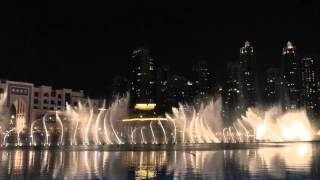 The Dubai Fountain is the world's largest choreographed fountain system @ Burj Khalifa Lake