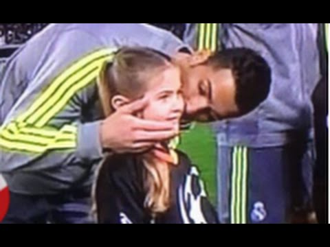 Roma 0-2 Real Madrid: Cristiano Ronaldo kisses a girl who accompanied