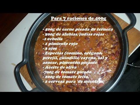 Chili con carne (receta original)