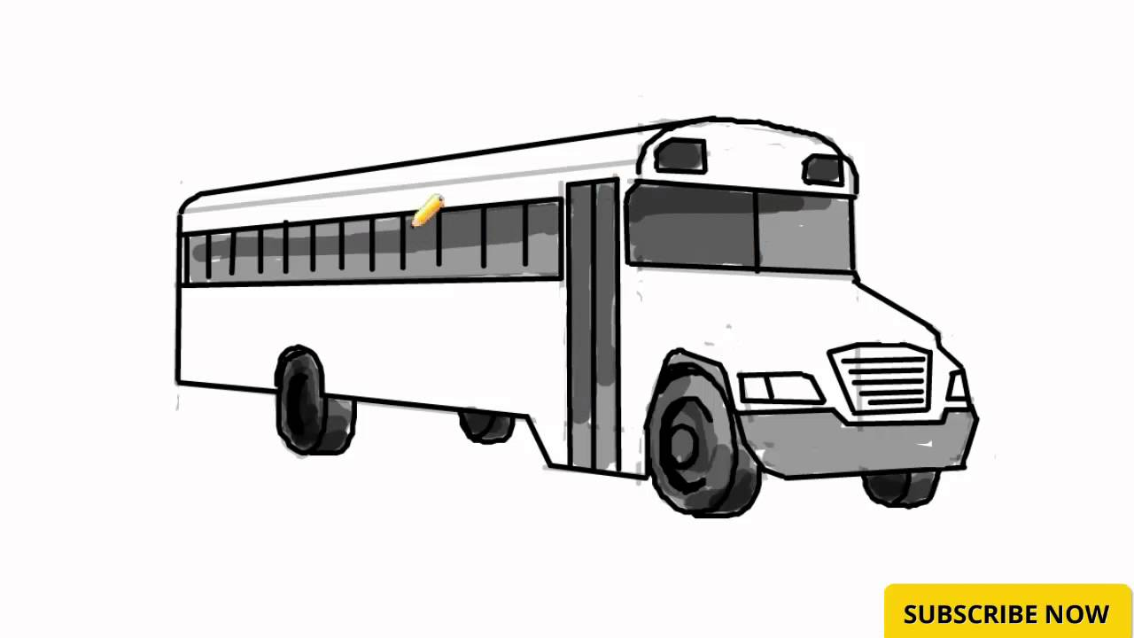How To Draw A Bus Learn To Draw Bus How To Draw Cartoons With