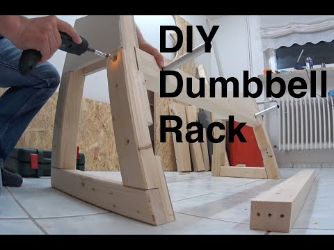 Dumbbell Rack DIY