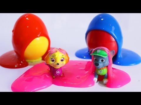 ЩЕНЯЧИЙ ПАТРУЛЬ Новые серии Щенки в СЛИЗИ Развивающие мультики для детей Учим цвета Яйца с сюрпризом