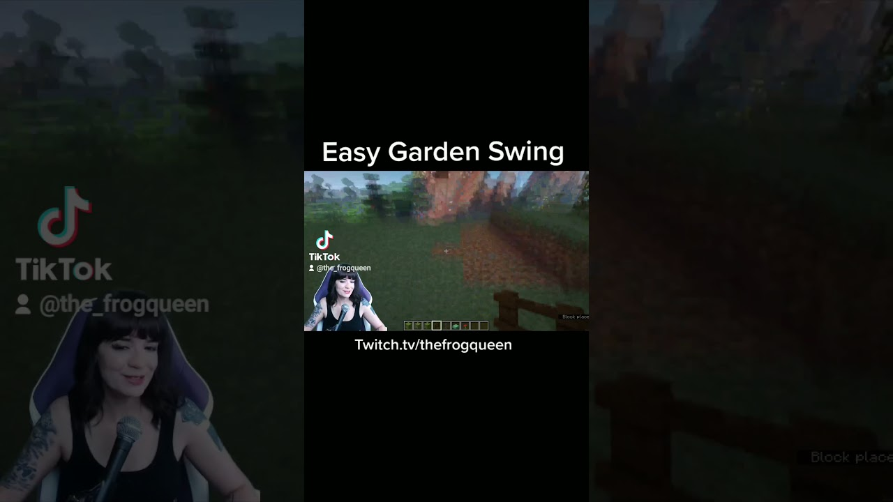 Minecraft Garden Swing Idea 1.17.1 #shorts