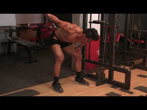 Bent Over Low Pulley Side Lateral, Tutorial, Exercise Video, Workout, SEXioFIT