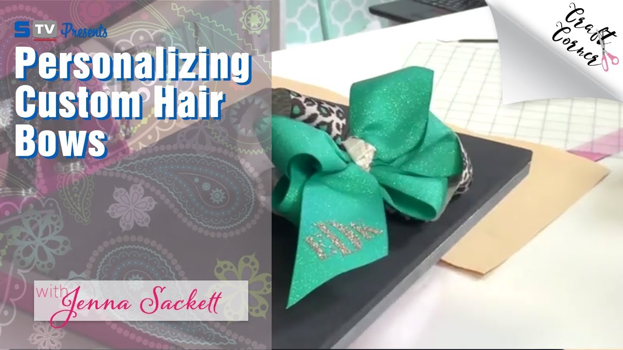PERSONALISED HEAT TRANSFER IRON ON VINYL NAME FOR HAIR BOWS