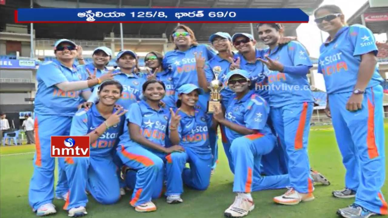 Womens Indian Cricket Team Celebrate Historical Win On Aus Hmtv