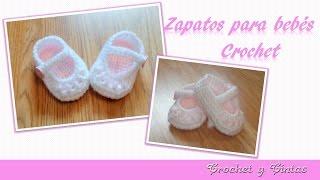 Como tejer zapaticos,  escarpines crochet (ganchillo) para bebés de todas las edades - Parte 1