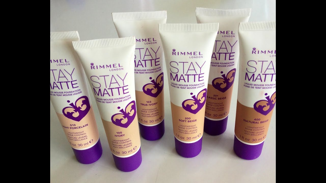 Rimmel London Stay Matte Mousse Foundation- Review - YouTube