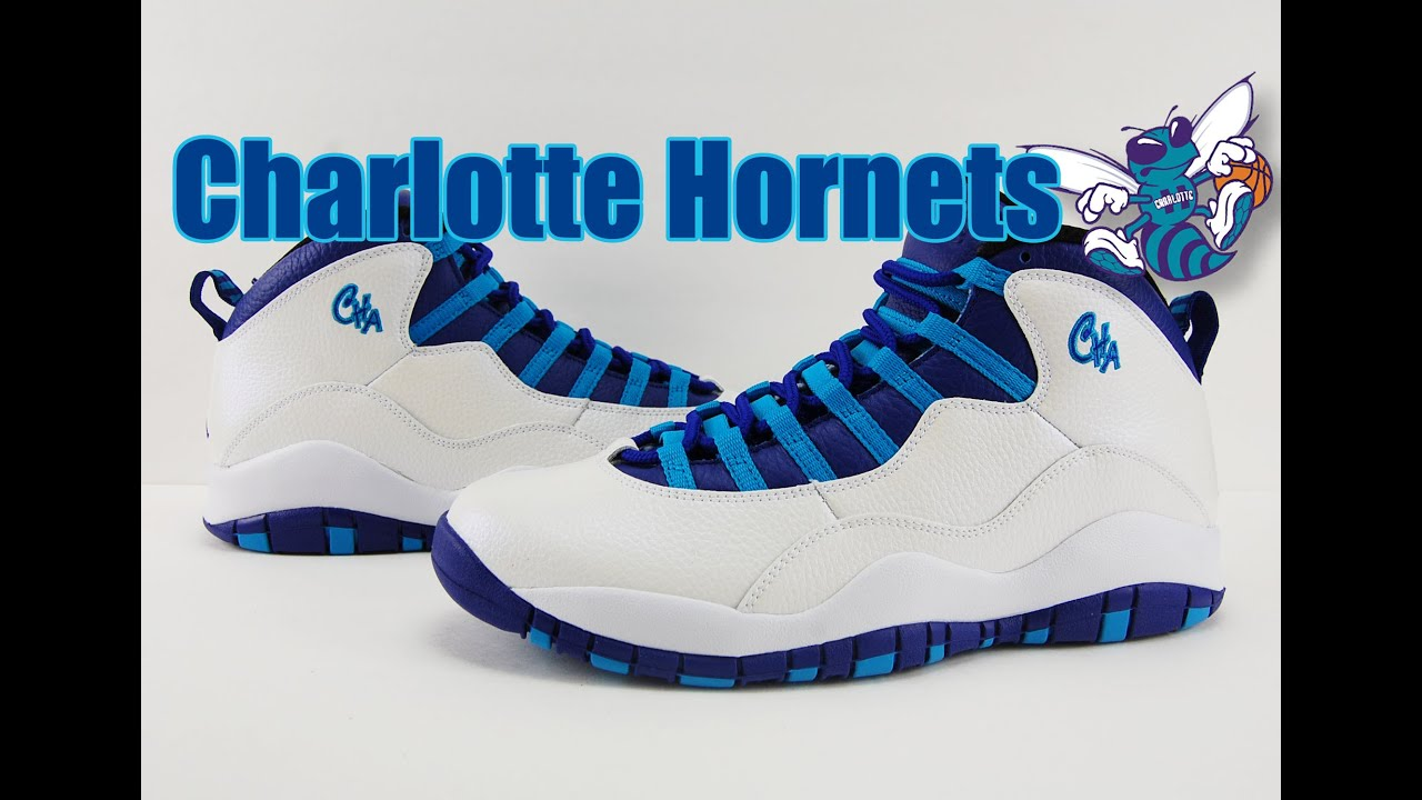 Air Jordan 10 Charlotte Hornets Review - YouTube 278871eb0038