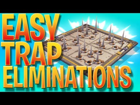 """Using A """"Hidden Trap"""" To Finish The Trap Challenge  In Fortnite (Easy Trap Eliminations In Fortnite)"""