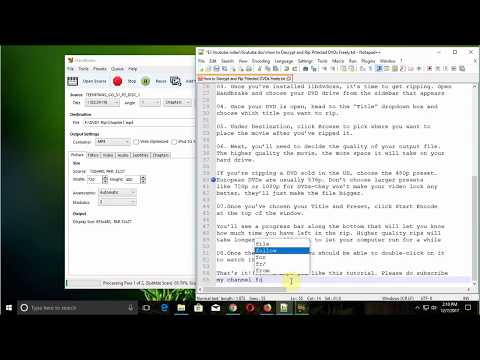 Steps by Steps How to Decrypt and Rip Protected DVDs Freely using HandBrake