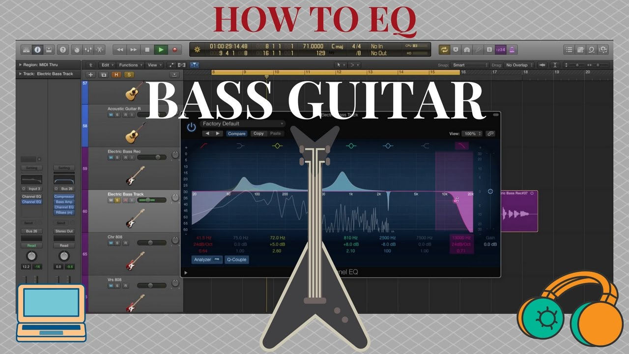 how to eq a bass guitar easy tips and technique for any daw youtube. Black Bedroom Furniture Sets. Home Design Ideas