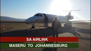 SA AIRLINK   MASERU TO JOHANNESBURG   EMBRAER 140   TRIP REPORT