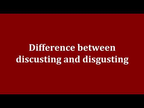 Difference between discusting and disgusting