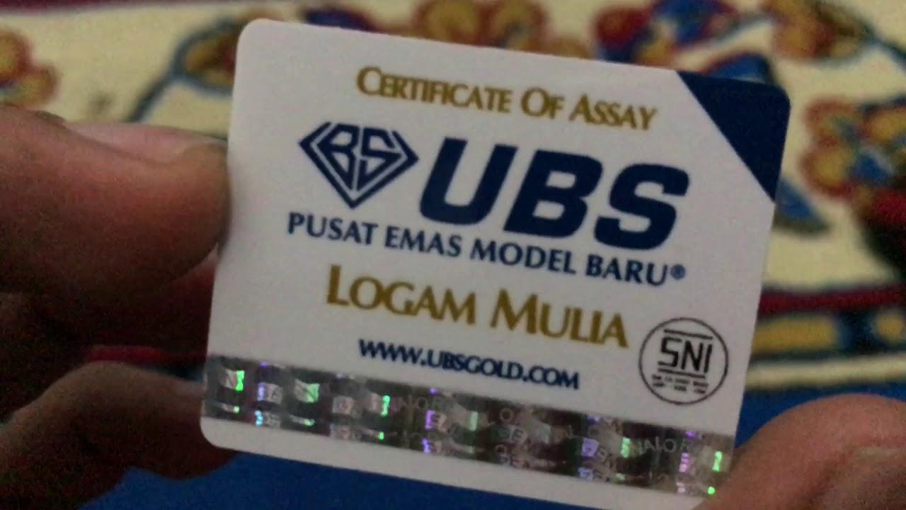Cetakan Emas Ubs 25 Gram Indonesia Youtube