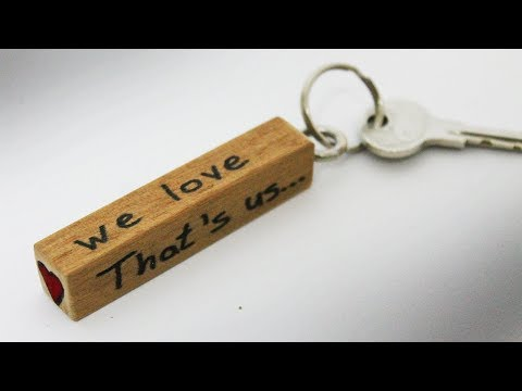 How to make a keychain - DIY wooden keychain