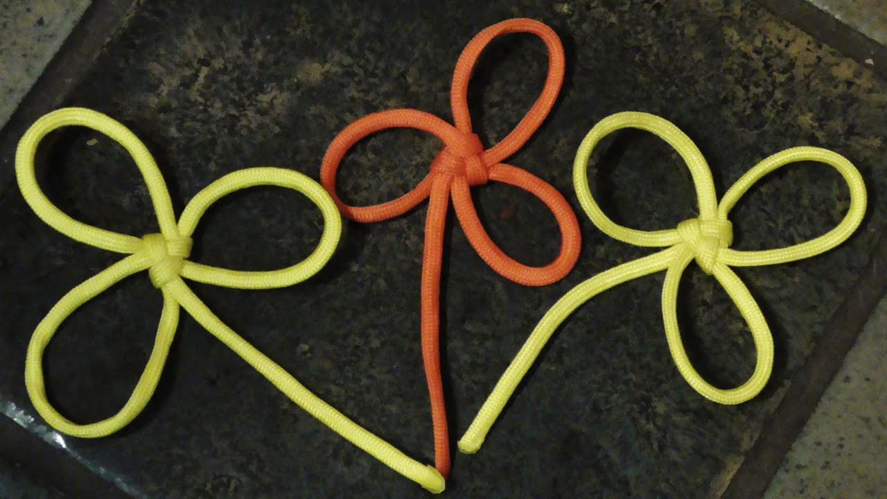 decorative paracord flowers how to tie a chinese butterfly