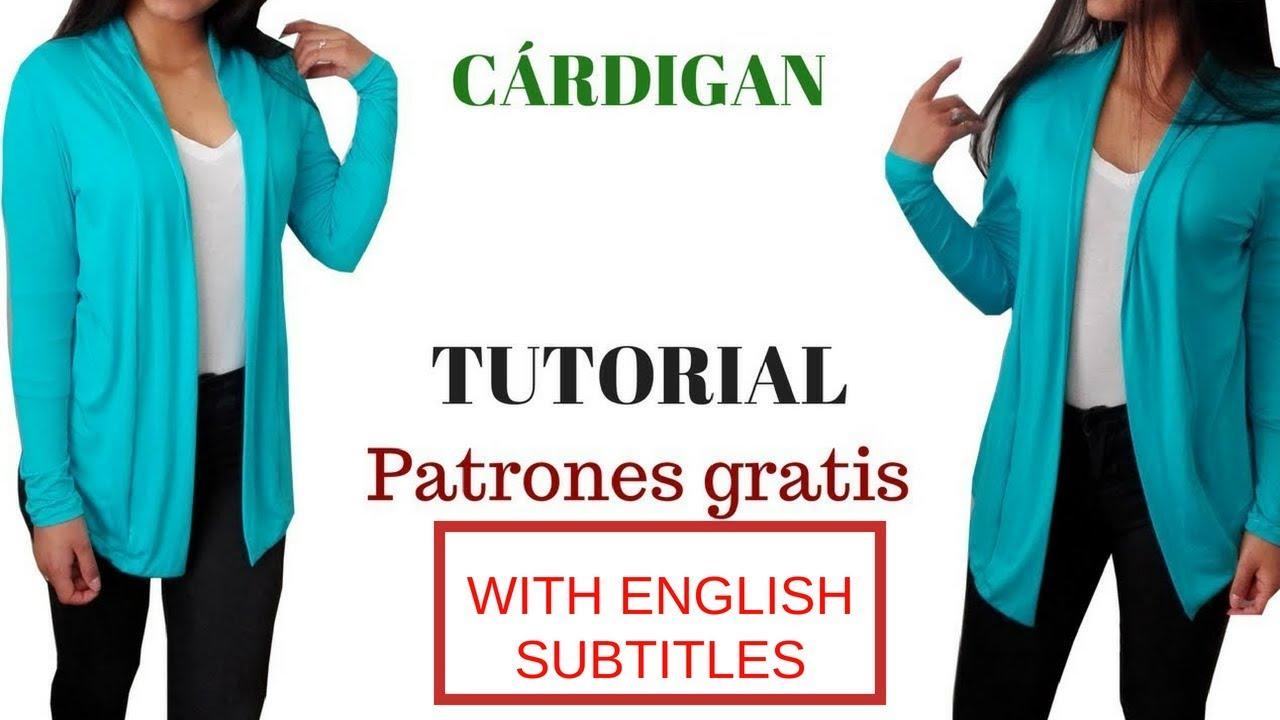 DIY Cómo hacer un cárdigan corte y confección/ HOW TO MAKE A ...