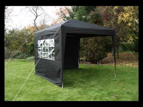 PartyTent 3m x 3m Zwart   Easy Up   Opvouwbaar