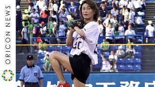 氷川きよし、4年連続始球式でノーバン投球「99点」 20周年の想いをボールに込める 『プロ野球・東京ヤクルトスワローズ×阪神タイガース公式戦』始球式