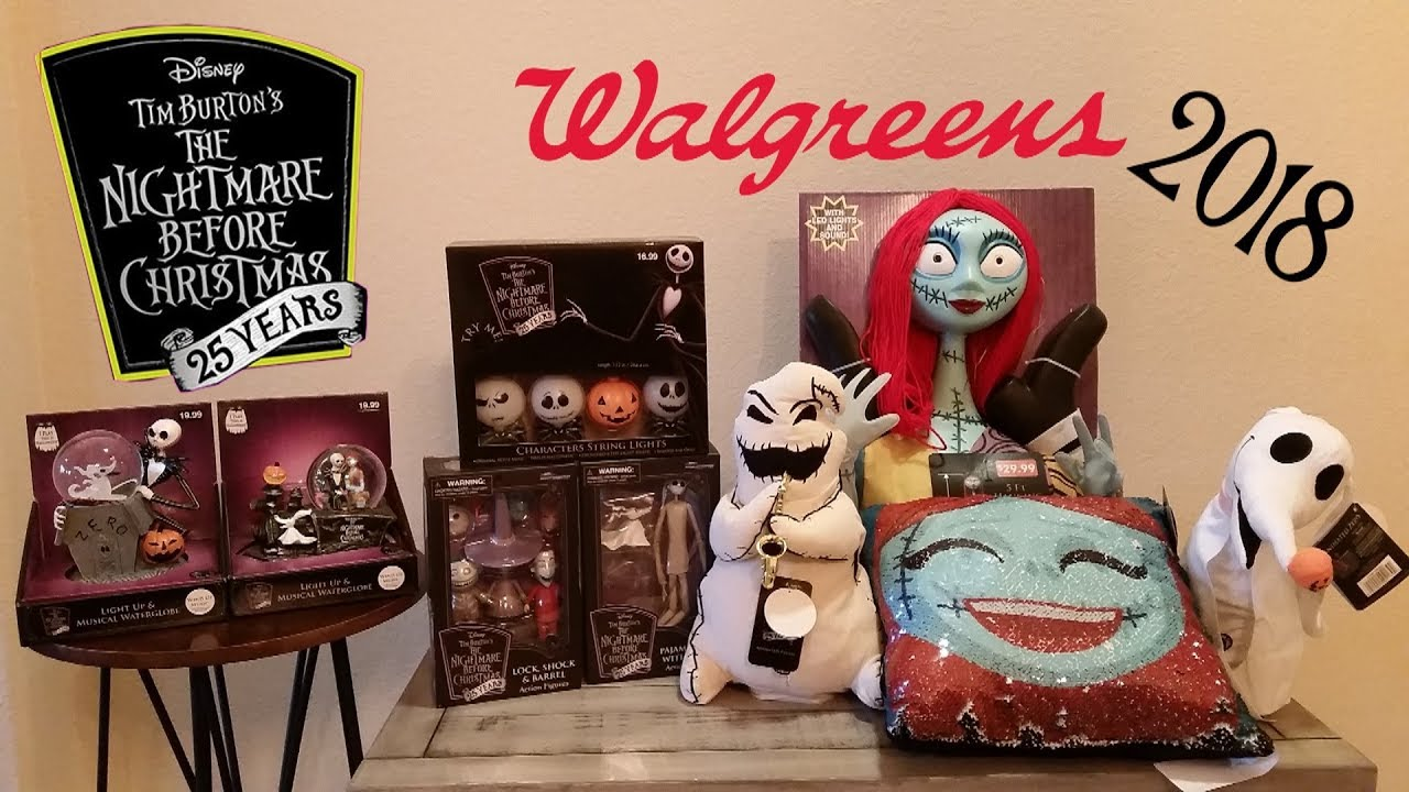 Walgreens Nightmare Before Christmas Haul 2018 - YouTube