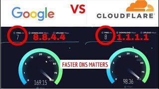 FASTEST DNS | Cloudfare faster than google dns? Let's find out!