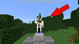 КАК СДЕЛАТЬ СВОЮ СТАТУЮ В Minecraft PE 1.2