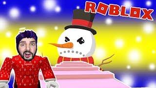 Roblox: BÖSEN SCHNEEMANN ENTKOMMEN! KAAN WIRD VON IHM GEFRESSEN! Snowman Obby Escape Deutsch