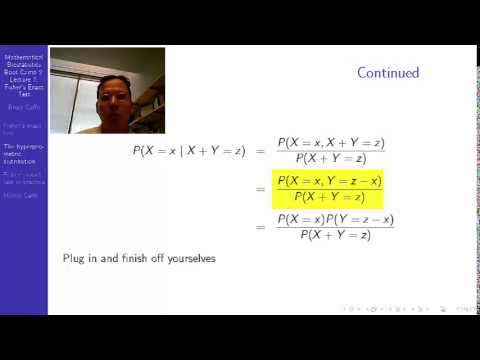 MBBC2 lecture07 Fisher's exact test