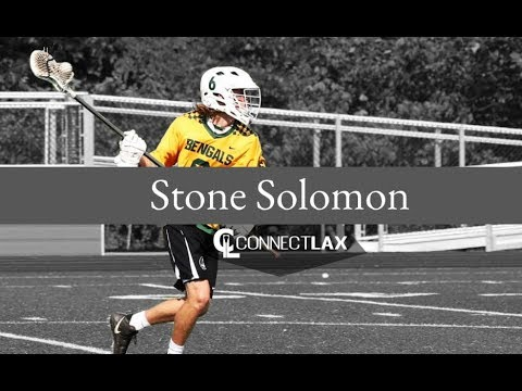 Stone Solomon Lacrosse Highlights | NC 2020 | Def, LSM