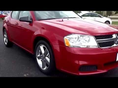 Used Red 2013 Dodge Avenger Se Youtube