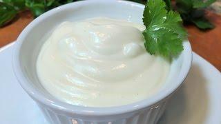 ДОМАШНИЙ МАЙОНЕЗ  за 45 секунд без яиц и уксуса.  (Mayonnaise without eggs and vinegar