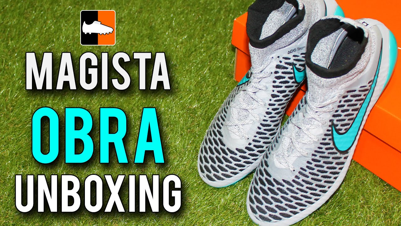 17e1d005bd14 Paul Pogba s Nike Magista Obra Unboxing - Wolf Grey Sky Blue - YouTube