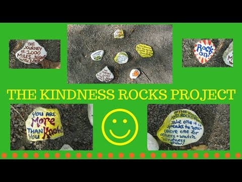 The Kindness Rocks Project ~ Milford Upper Charles Bike Trail
