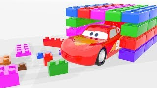 Lightning Mcqueen is Playing With Lego Labirint Colors Toddler Learning Video Bonny Kids