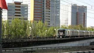 Moscow Metro.Nagatinsky Metro Bridge. Нагатинский метромост