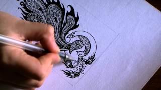 Дудлинг и выжигание (пирография). / Doodle and Pyrography.