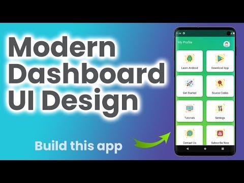Modern Dashboard UI Design Android Studio Tutorial