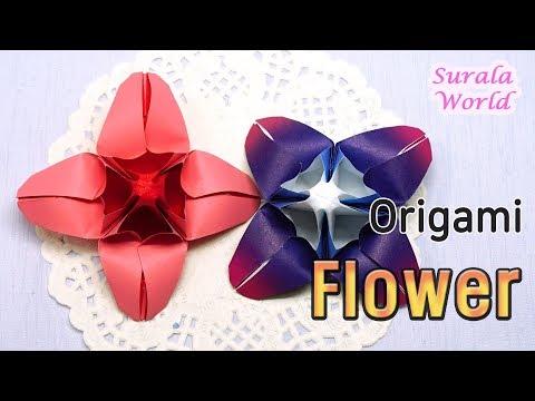 Origami Flower,  Paper Flower, Cruciate Flower (DIY, How to)