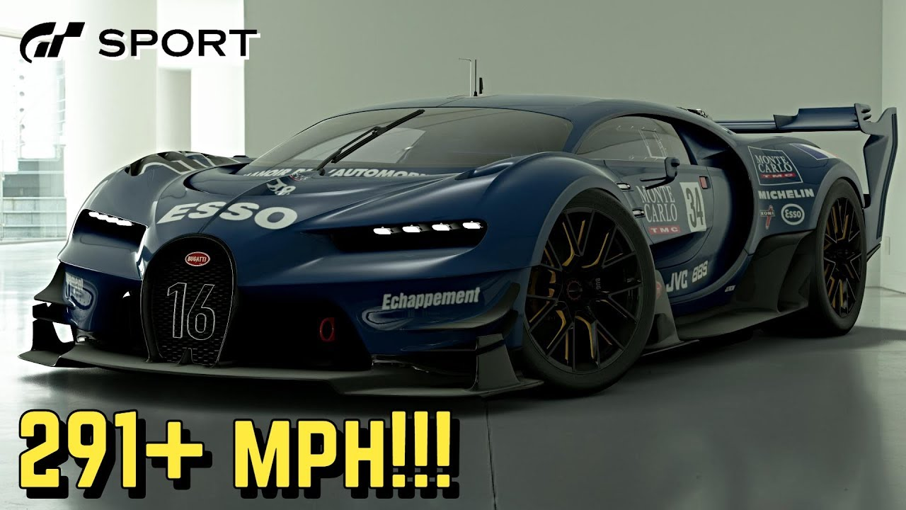 Bugatti Vision Gt >> Gt Sport 291 Mph Bugatti Vision Gt Setup