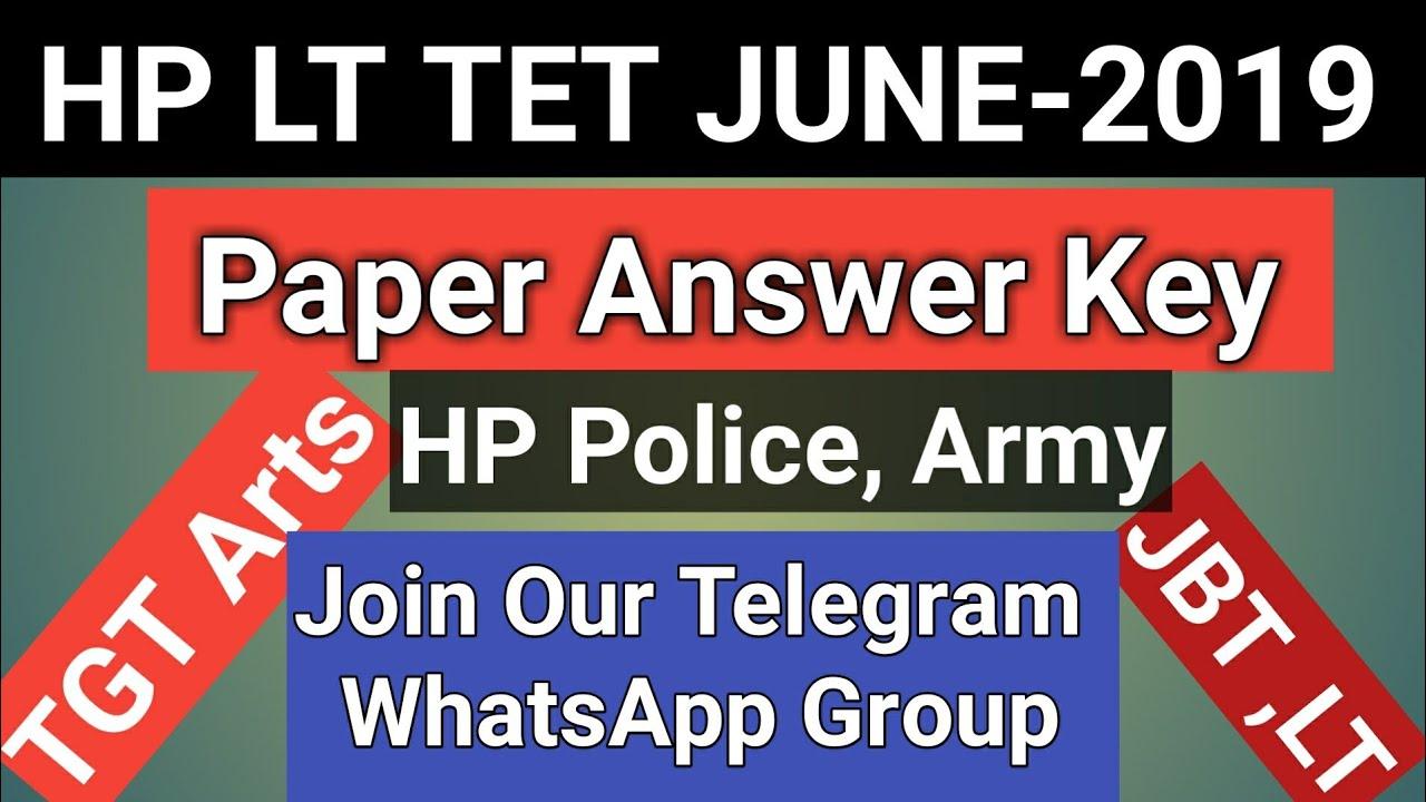 Repeat HP LT TET 2019 solved question paper,HP LT TET 2019