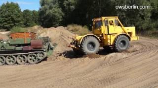 Kirovets K700 And Tank   Panzer. Кировец К 700 и Танк