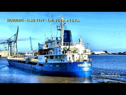 HENRIETTE OZ2054 IMO 7110995 Emden built 1971 cargo seaship merchant vessel Frachtschiff